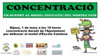 CONCENTRACIÓ PER DEFENSAR EL MODEL D'ESCOLA CATALANA