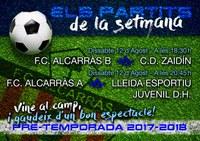 FC ALCARRÀS - PARTITS DE LA SETMANA