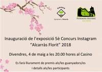 """INAUGURACIÓ EXPOSICIÓ I LLIURAMENT PREMIS 5è CONCURS INSTAGRAM """"ALCARRÀS FLORIT"""""""