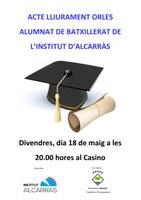 LLIURAMENT ORLES BATXILLERAT INSTITUT