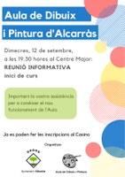 REUNIÓ INICI CURS AULA DIBUIX al Centre Major