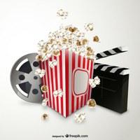Sessió de cinema amb crispetes