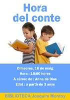 Sessió especial HORA DEL CONTE a càrrec de Anna de Dios de la companyia PROU DE BROU