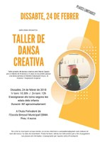 TALLER DE DANSA CREATIVA DE 8 MESOS A 3 ANYS