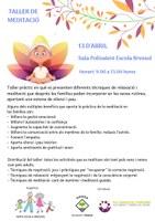 TALLER DE MEDITACIÓ PER A MARES/ PARES I FILLS/ES