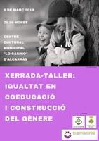 XERRADA-TALLER: IGUALTAT EN COEDUCACIÓ I CONSTRUCCIÓ DEL GÈNERE