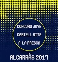 Cartell anunciador del Concurs Jove de cartells  per Les nits a la Fresca del 2017