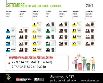 Calendari PaP Setembre