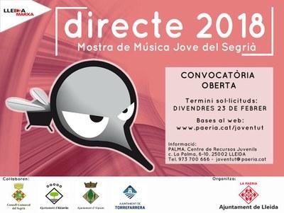 Alcarràs col·labora un any més amb la mostra de música Directe 2018