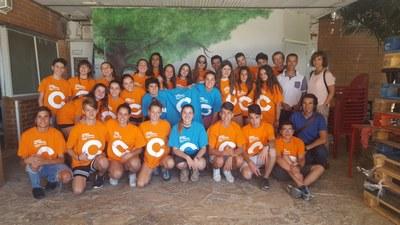 Alcarràs dóna la benvinguda a 25 joves que realitzaran aquest mes de juliol un camp de treball a la vila