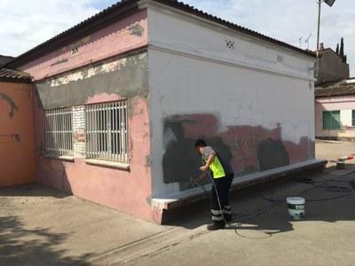 Alcarràs efectua durant l'estiu obres de manteniment en diversos edificis municipals