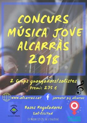 Alcarràs impulsa el Concurs Música Jove Alcarràs 2018