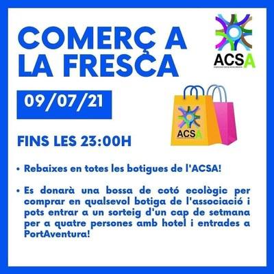 Alcarràs obre les botigues aquest 9 de juliol fins a les 23 h en la seva 5a Nit del Comerç a la Fresca