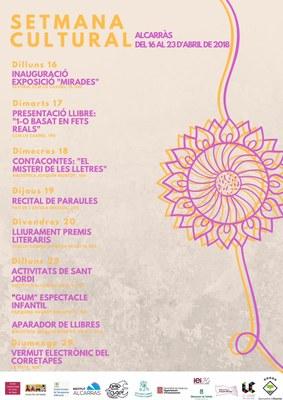 Alcarràs programa del 16 al 23 d'abril la Setmana Cultural de la vila