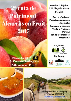 Alcarràs promociona la seva fruita amb visites a camps, tastos i rutes a cavall