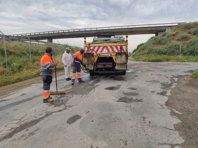 Alcarràs reforça la seguretat vial i millora la mobilitat amb la eliminació dels esvorancs als camins del municipi