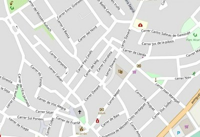Alcarràs reordena el trànsit de dos carrers del Centre Històric per millorar la circulació viària