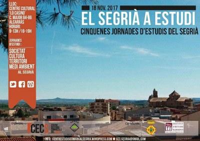 'El Segrià a Estudi', cinquenes jornades d'estudi de la comarca