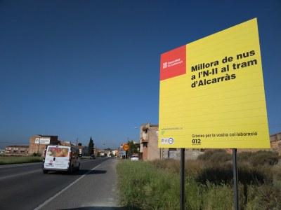 Inicien les obres de construcció de la rotonda de  l'N-II a Alcarràs