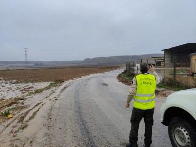 L'Ajuntament d'Alcarràs quantifica en 73.000 euros els danys en infraestructures municipals pel darrer temporal