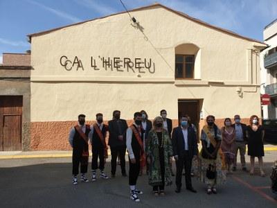 La consellera Violant Cervera inaugura l'equipament de Serveis Socials Ca l'Hereu a Alcarràs
