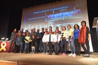 La III Festa de l'Esport d'Alcarràs premia una desena d'atletes i clubs esportius