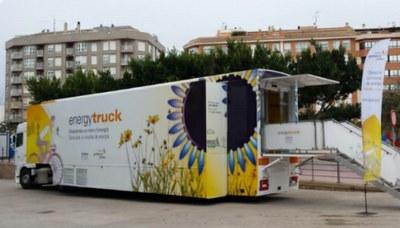 L'EnergyTruck, l'exposició itinerant del Museu del Gas, s'atura a Alcarràs