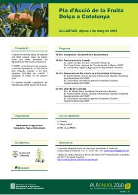 'Pla d'Acció de la Fruita Dolça a Catalunya', nova jornada de Fructicultura a Alcarràs