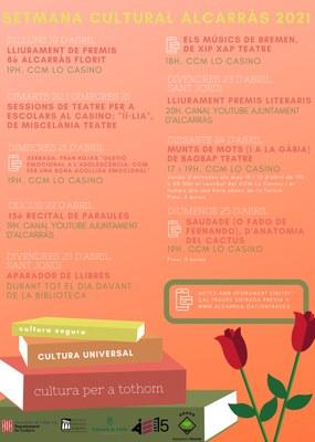 Teatre per a tots els públics, xerrades per la joventut i recitals de fado omplen el calendari cultural de Sant Jordi a Alcarràs